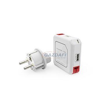 ALLOCACOC USB 2.0 töltő, 4xUSB, AC 100-240V/0,3A, DC Micro USB, 5V, 1,5A
