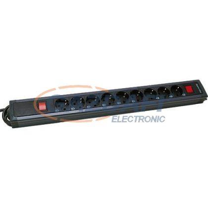 GAO 0014923513 9-es asztali elosztó 2 kapcsolóval, antracit