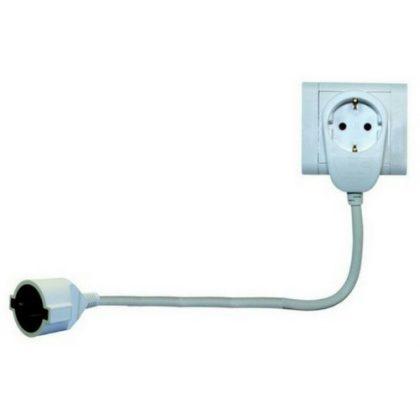 GAO 0016150114 Földelt lengő hosszabbító Powersplit 3x1.5, 5m, fehér
