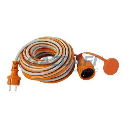GAO 0016259914 Földelt lengő hosszabbító csapfedeles, 250V, 16A, 25m 3x1,5mm2 H05VV-F kábellel, IP44