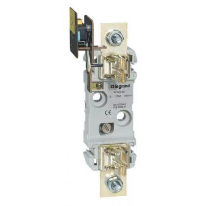 LEGRAND 019949 késes aljzat 1 1P 250A M10 kalapsínre is rögzíthető mikrokapcsolóval