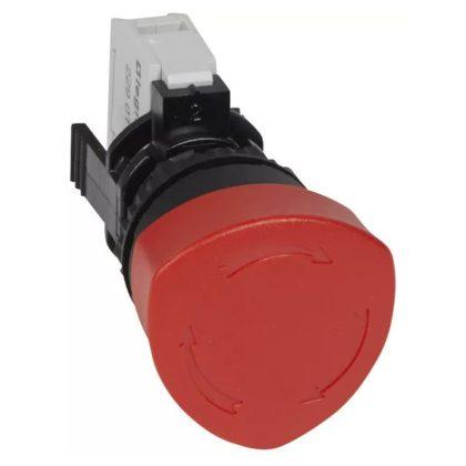 LEGRAND 023720 Osmoz vészleállító gomb reteszoldás forgatással - Ny - piros Ø40