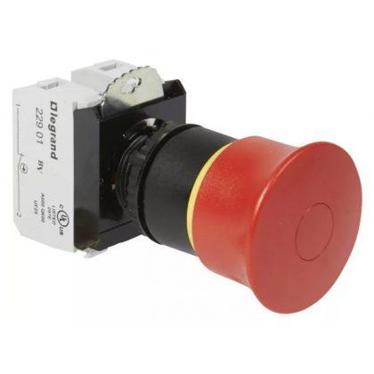 LEGRAND 023725 Osmoz vészleállító gomb reteszoldás húzással EN418 - Ny+Z - piros Ø40