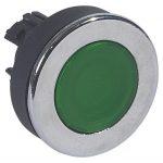 LEGRAND 024049 Osmoz extralapos reteszelt világító nyomógomb - zöld Ø30