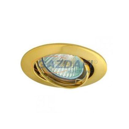 """KANLUX """"Vidi"""" süllyesztett spot lámpatest, Gx5,3, MR16, 12V, 50W, arany, billenthető, IP20, alumínium"""