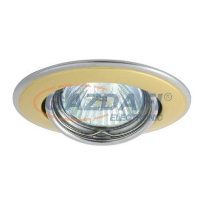 KANLUX süllyeszthető spot lámpatest, GU5,3, 50W, matt nikkel/arany, IP20, 12V