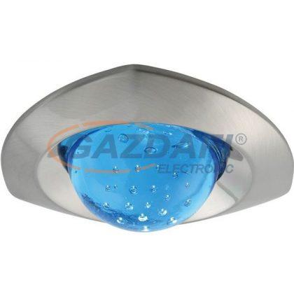 KANLUX süllyesztett spot lámpatest, Gx5,3, 12V, MR16, 50W, matt nikkel-kék, üveg