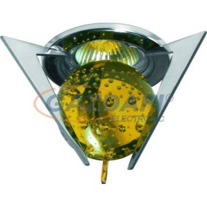 KANLUX süllyesztett spot lámpatest, Gx5,3, MR16, 50W, IP20, sárga-króm
