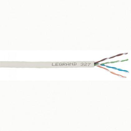 LEGRAND 032752 fali kábel réz Cat5e árnyékolt (F/UTP) 4 érpár (AWG24) LSZH (LSOH) szürke Dca-s2,d2,a1 305m-kartondoboz LCS3