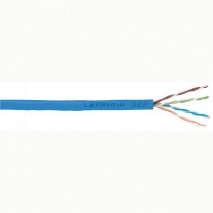 LEGRAND 032754 fali kábel réz Cat6 árnyékolatlan (U/UTP) 4 érpár (AWG23) LSZH (LSOH) kék Dca-s2,d2,a1 305m-kartondoboz LCS3