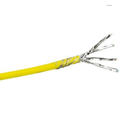 LEGRAND 032777 fali kábel réz Cat7 árnyékolt (S/FTP) 4 érpár (AWG23) LSZH (LSOH) sárga Dca-s2,d1,a1 500m-kábeldob LCS3