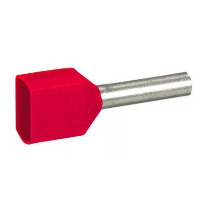 LEGRAND 037688 Starfix 2x1mm2 érvéghüvely piros