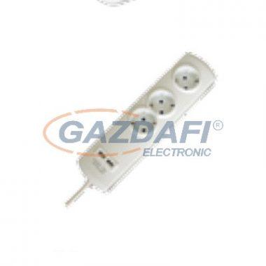 GAO 0397H Asztali elosztó 3-as, 1,4m, 3x1.5, 2xUSB töltővel