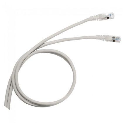 LEGRAND 051638 patch kábel RJ45-RJ45 Cat5e árnyékolatlan (U/UTP) PVC 3 méter szürke d: 5.4mm AWG24 LCS3
