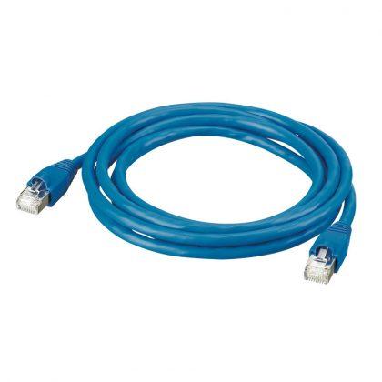 LEGRAND 051752 patch kábel RJ45-RJ45 Cat6 árnyékolt (S/FTP) PVC 1 méter kék d: 6,2mm AWG27 LCS3