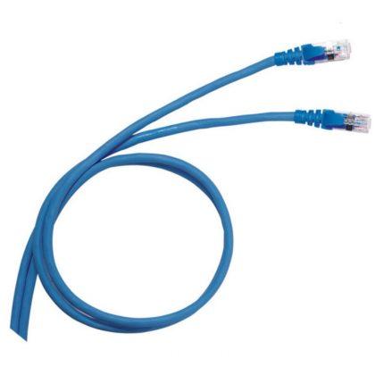 LEGRAND 051762 patch kábel RJ45-RJ45 Cat6 árnyékolt (F/UTP) PVC 1 méter kék d: 6mm AWG26 LCS3