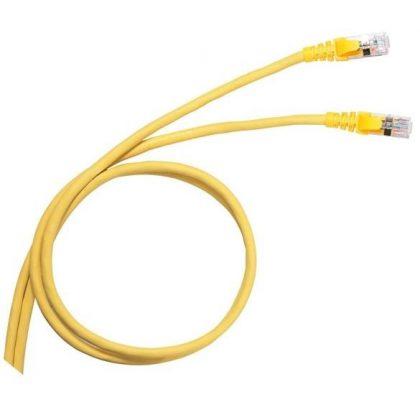 LEGRAND 051783 patch kábel RJ45-RJ45 Cat6A árnyékolt (S/FTP) PVC 5 méter sárga d: 6,2mm AWG27 LCS3