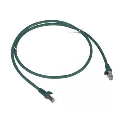 LEGRAND 051853 patch kábel RJ45-RJ45 Cat6 árnyékolt (F/UTP) LSZH (LSOH) 5 méter zöld d: 6mm AWG26 LCS3