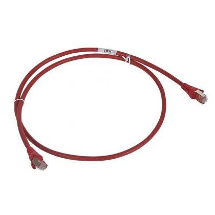 LEGRAND 051855 patch kábel RJ45-RJ45 Cat6 árnyékolt (F/UTP) LSZH (LSOH) 2 méter piros d: 6mm AWG26 LCS3