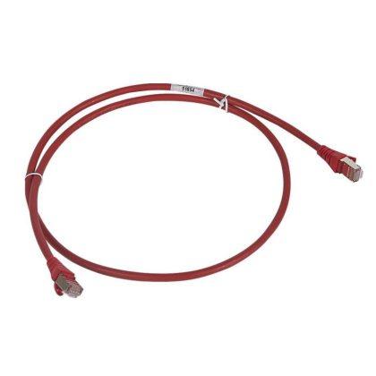 LEGRAND 051857 patch kábel RJ45-RJ45 Cat6 árnyékolt (F/UTP) LSZH (LSOH) 5 méter piros d: 6mm AWG26 LCS3