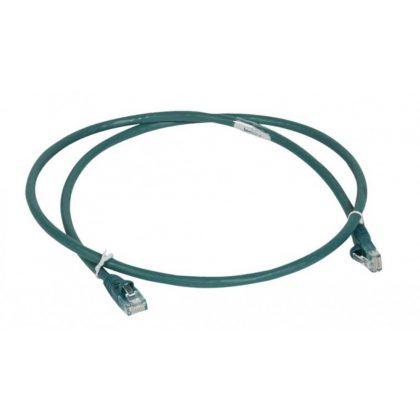 LEGRAND 051858 patch kábel RJ45-RJ45 Cat6 árnyékolatlan (U/UTP) LSZH (LSOH) 1 méter zöld d: 6mm AWG24 LCS3