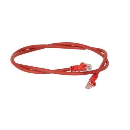 LEGRAND 051862 patch kábel RJ45-RJ45 Cat6 árnyékolatlan (U/UTP) LSZH (LSOH) 1 méter piros d: 6mm AWG24 LCS3