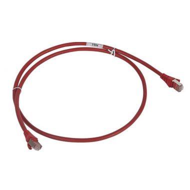 LEGRAND 051870 patch kábel RJ45-RJ45 Cat6A árnyékolt (S/FTP) LSZH (LSOH) 1 méter piros d: 6,2mm AWG27 LCS3