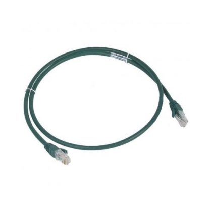 LEGRAND 051874 patch kábel RJ45-RJ45 Cat6A árnyékolatlan (U/UTP) LSZH (LSOH) 1 méter zöld d: 6,2mm AWG26 LCS3