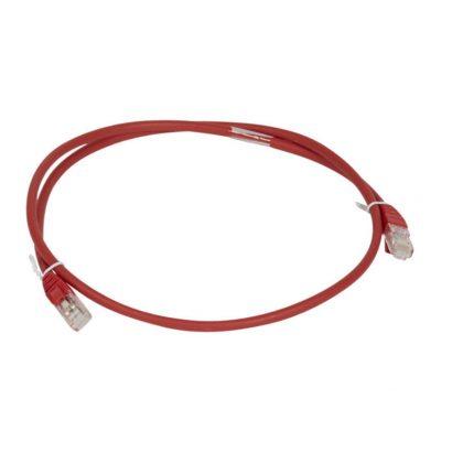 LEGRAND 051878 patch kábel RJ45-RJ45 Cat6A árnyékolatlan (U/UTP) LSZH (LSOH) 1 méter piros d: 6,2mm AWG26 LCS3
