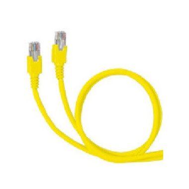 LEGRAND 051882 patch kábel RJ45-RJ45 Cat6A árnyékolatlan (U/UTP) PVC 1 méter sárga d: 6,2mm AWG26 LCS3