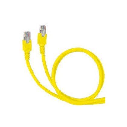 LEGRAND 051885 patch kábel RJ45-RJ45 Cat6A árnyékolatlan (U/UTP) PVC 5 méter sárga d: 6,2mm AWG26 LCS3