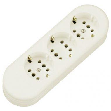 LEGRAND 053421 Dafh-162k 3-as dugalj fehér elosztósor vezeték nélküli, fehér