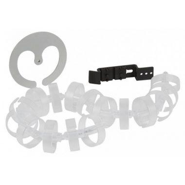 LEGRAND 053597 Kábelvezető hernyó, hossz:770mm, átlátszó