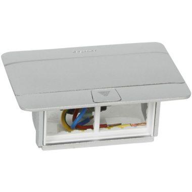 LEGRAND 054011 Pop-up felnyíló süllyesztett padlódoboz 4 modul, alumínium, üres