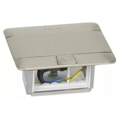 LEGRAND 054020 Pop-up felnyíló süllyesztett doboz 3 modul, rozsdamentes acél, üres