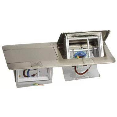 LEGRAND 054022 Pop-up felnyíló süllyesztett doboz 6 (2×3) modul, rozsdamentes acél, üres