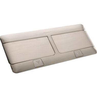 LEGRAND 054023 Pop-up felnyíló süllyesztett doboz 8 (2×4) modul, rozsdamentes acél, üres