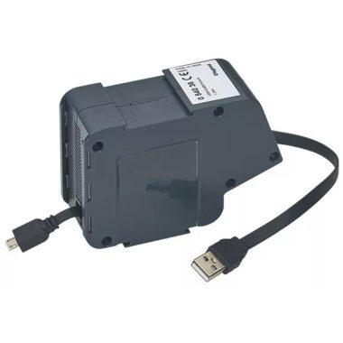 LEGRAND 054036 USB/micro USB lapos vezetékkel 1 modulos visszahúzható szett