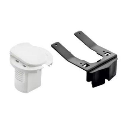 LEGRAND 054070 Üres asztali kábelrendező 2P+F csatlakozóaljzathoz, RAL 9003 fehér