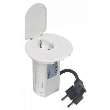 LEGRAND 054085 Összeszerelt asztali kábelrendező 2P+F csatlakozóaljzattal és USB telefontöltővel, fehér keret és mechanizmus, 1x2P+F csatlakozóaljzat burkolattal, 1x USB , 2 m tápkábellel 2P+F csatlakozódugóval
