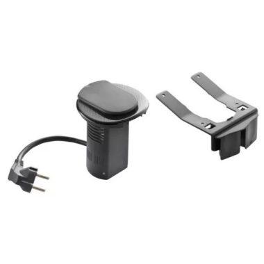 LEGRAND 054086 Összeszerelt asztali kábelrendező 2P+F csatlakozóaljzattal és USB telefontöltővel, fekete keret és mechanizmus, 1x2P+F csatlakozóaljzat burkolattal, 1x USB , 2 m tápkábellel 2P+F csatlakozódugóval