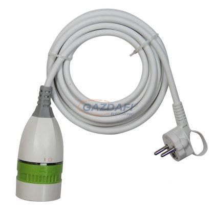 GAO 0564H Földelt lengő hosszabbító forgatással kapcsolható csatlakozóval, 250V, 16A, 5m 3x1,5mm2 H05VV-F kábellel