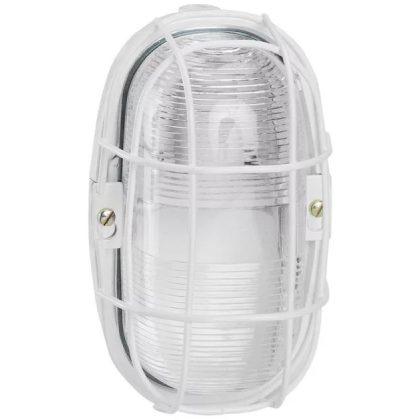 LEGRAND 060477 hajólámpa fehér, ovális, IP55, fém védőrács, 75W