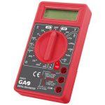 GAO 0652H Digitális mérőkészülék, diódavizsgálat, fekete / piros