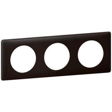LEGRAND 066743 Céliane 3-as keret, bazalt