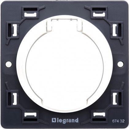 LEGRAND 067432 Céliane központi porszívó csatlakozóaljzat elektromos kapcsolattal, fehér