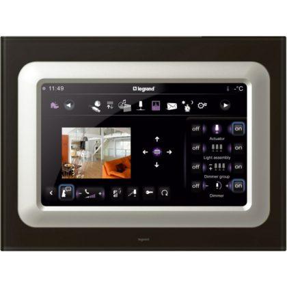 """LEGRAND 069309 Céliane My Home érintős scenárió vezérlő keret, 10"""", feketeüveg"""