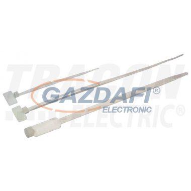 TRACON 120J Jelzőcímkés kábelkötegelő, natúr 110×2,5mm, D=1-20mm, PA6.6, (a×b=9×25mm)