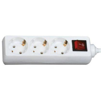 GAO 12351 Asztali elosztó 3-as kapcsolóval, 1,4m, 3x1.5, fehér