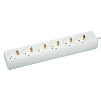 GAO 12362 Asztali elosztó 6-os, 1,4m, 3x1.5, fehér